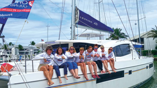 The crew and instructors (from left) Joelle, Adrianna, Kelly M., Kelly W., Barbara, Ali, Lisa G. and Lisa B.