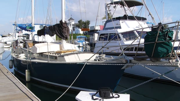 The author's latest adventure, this time a 38ft Atkins Ketch