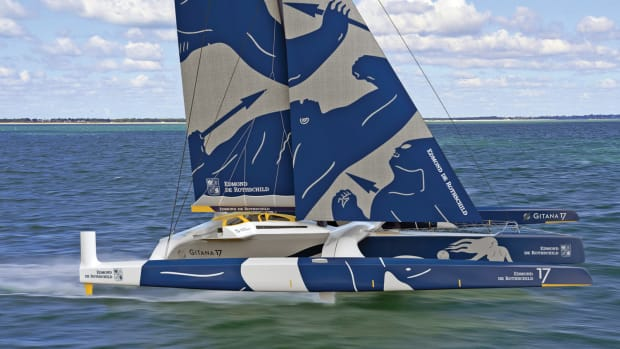 A rendering of Edmond de Rothschild in full-foiling mode. Image to courtesy of Gitana