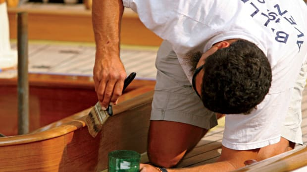 Few things evoke the romance of sailing better than varnished wood. But few things are as unpleasant as the act of varnishing. photo by Photos 12/Alamy