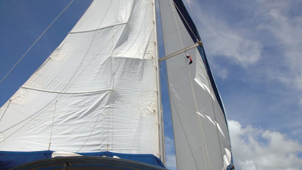 Downwind sailing is hard on mainsails