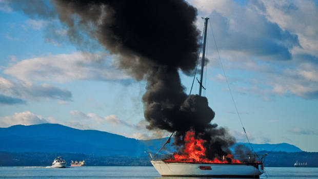 Fire is just as dangerous as sinking at sea