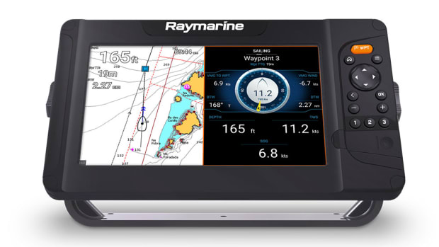 Raymarine-Element-9s-Front-Tilt-Chart-Sailing-Data-Dark