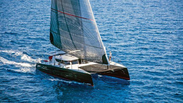 A fast, luxurious carbon fiber catamaran
