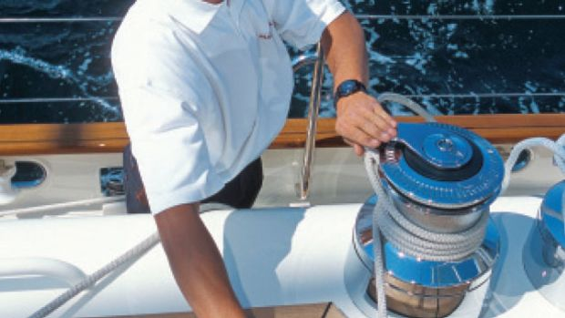 Powered winches fine-tune sail shape without straining muscles