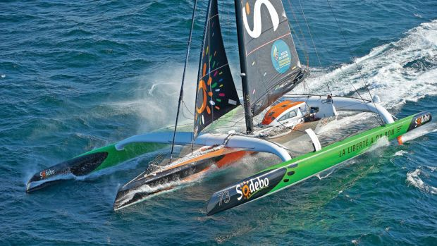 Experienced Frenchman Thomas Coville is a favorite to win the rejuvenated Transat race. Photo courtesy of Sodeb'O
