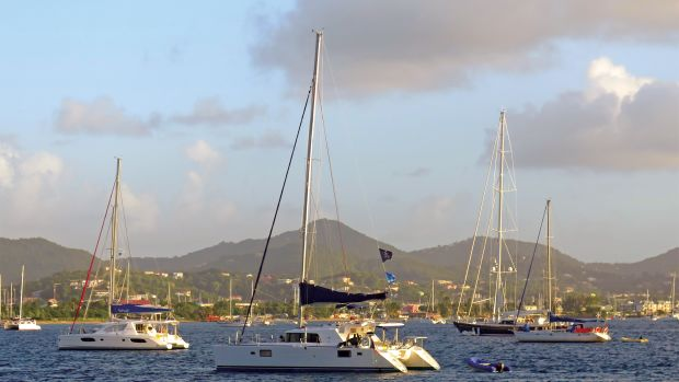 We began and ended our charter in St Lucia's Rodney Bay, seen here from Pigeon Island
