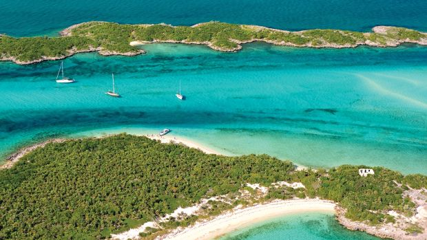 There's room and space in the anchorage at Allan's Cay in the Exumas