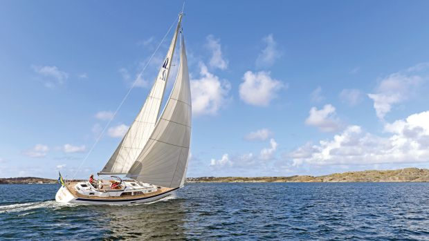 Hallberg-Rassy yachts like the H-R 40 are archetypal bluewater designs. Photo courtesy of Hallberg Rassy/Rick Tomlinson