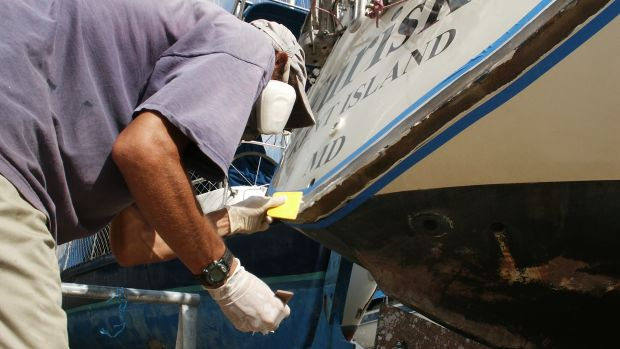 After years of being dinged and scratched, it was time to fix the transom