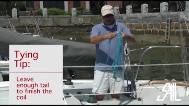 Sail Magazine's Essential Sailing Knots Coil a Line