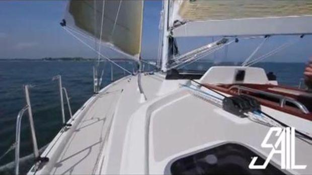 Blue Jacket Test Sail
