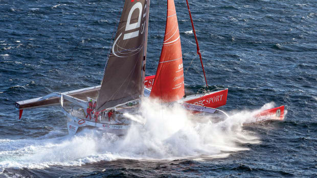 The maxi-tri IDEC Sport averaged an incredible 26.85 knots over the course of its circumnavigation
