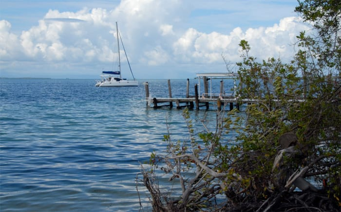 The sailing conditions are close to perfect in Belize