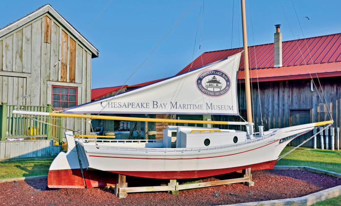 A classic working boat welcomes visitors to the Chesapeake Bay Maritime Museum