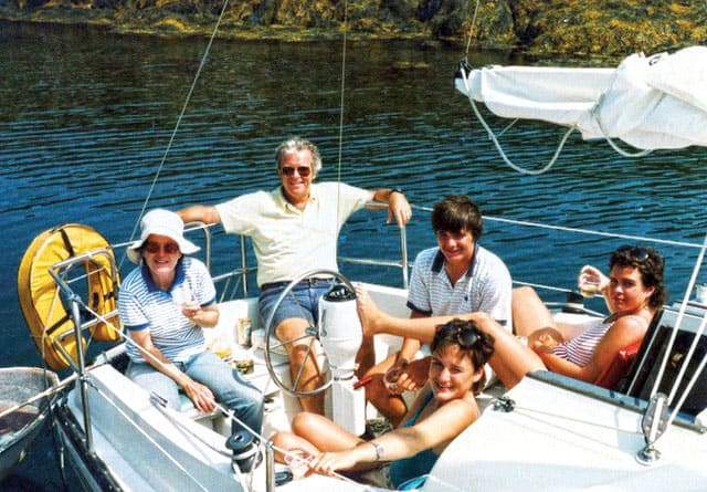 The Daley family enjoyed many summers of cruising the Maine coast