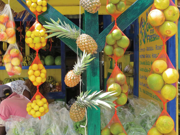 Fresh produce on display in Clifton adds color to the whole town