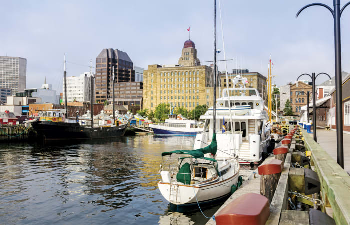 The crew enjoyed Halifax's lively waterfront district