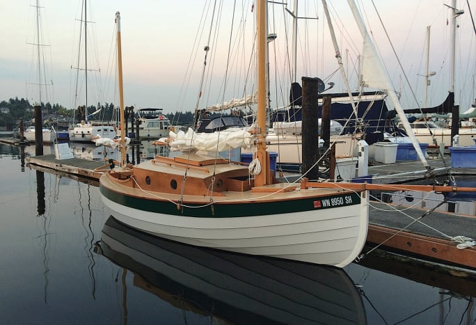 Steve Stromborg built Marianita, a gaff yawl designed by Lain Oughtred
