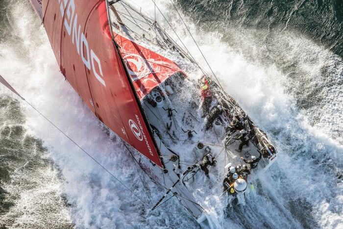 The Volvo Ocean 65 provides little protection against big seas