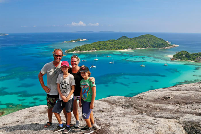 This family of four planned to spend three years seeing the world but four years in, they're still not ready to quit
