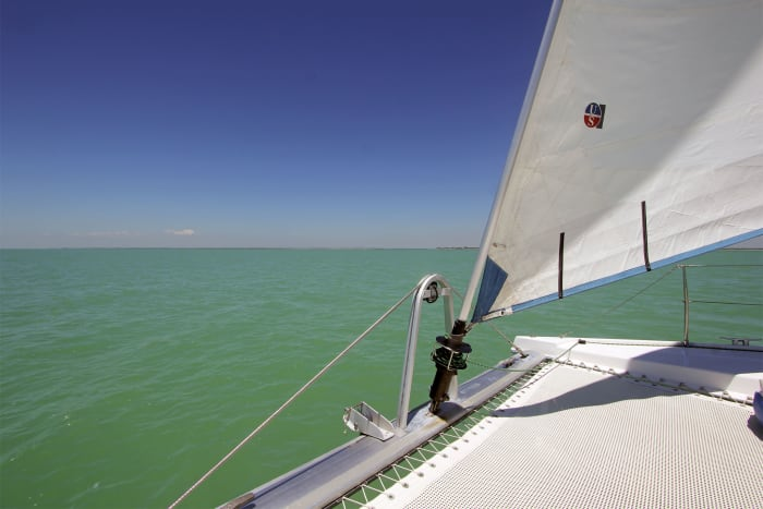 The Gulf of Mexico offered perfect sailing conditions