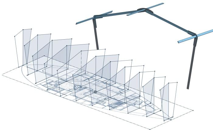 Free CAD software helped design the cover framework