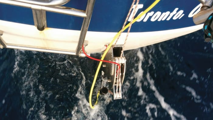 Swi-Tec's unit allows you to adjust pitch to match your boat speed. It has a heavy mounting designed to withstand cruising loads