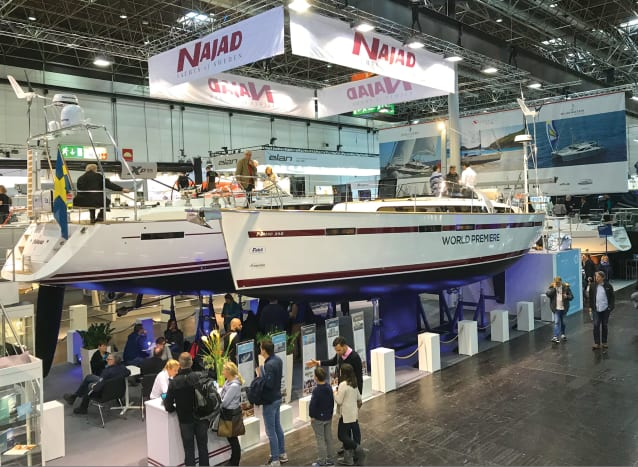 New models from Sweden's Najad got a lot of traffic
