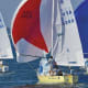 Three J/24s battle downwind. Photo courtesy of boats