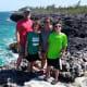 Matt, Austin, Michelle and Zach at Morgan's Bluff in the Bahamas