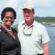 At Virgin Gorda Yacht Harbor, manager Eric Huber and assistant Lucy Ann were welcoming visiting boats again
