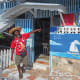 """""""We'll be right there!"""" One of the welcoming restaurants on Mayreau"""