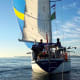Mamaku makes her way downwind under spinnaker