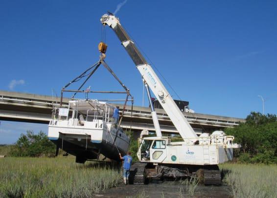 Using cranes
