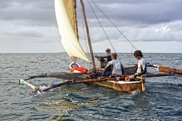 The-winners-sailing-Village-Monde-Charles-and-Bastien-Mony-from-Quebec-and-Gilles-Lamire-from-France-heading-for-the-finish-line--credit-The-Adventurists
