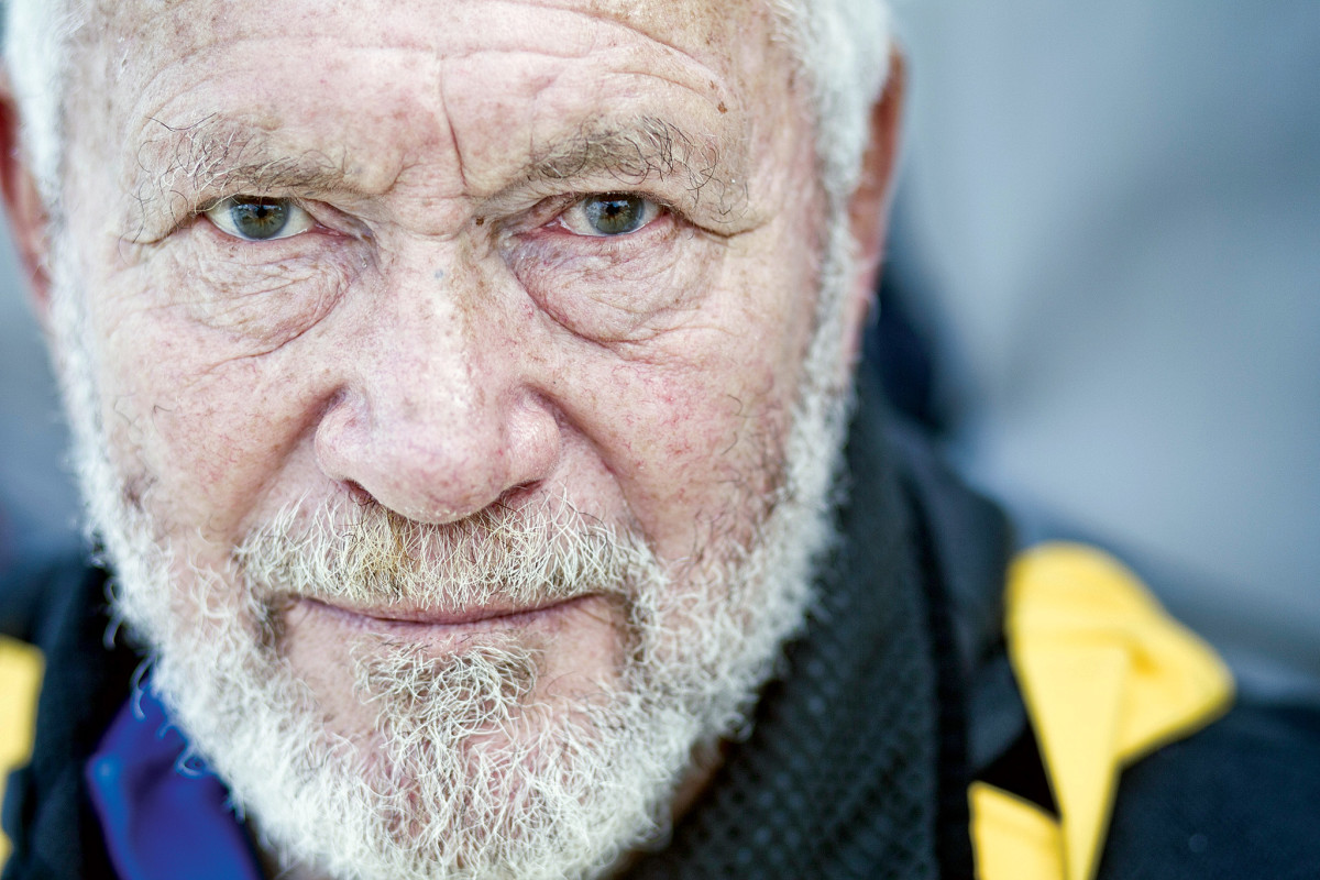 Sir Robin Knox-Johnston 's eyes tell the tale of his many voyages