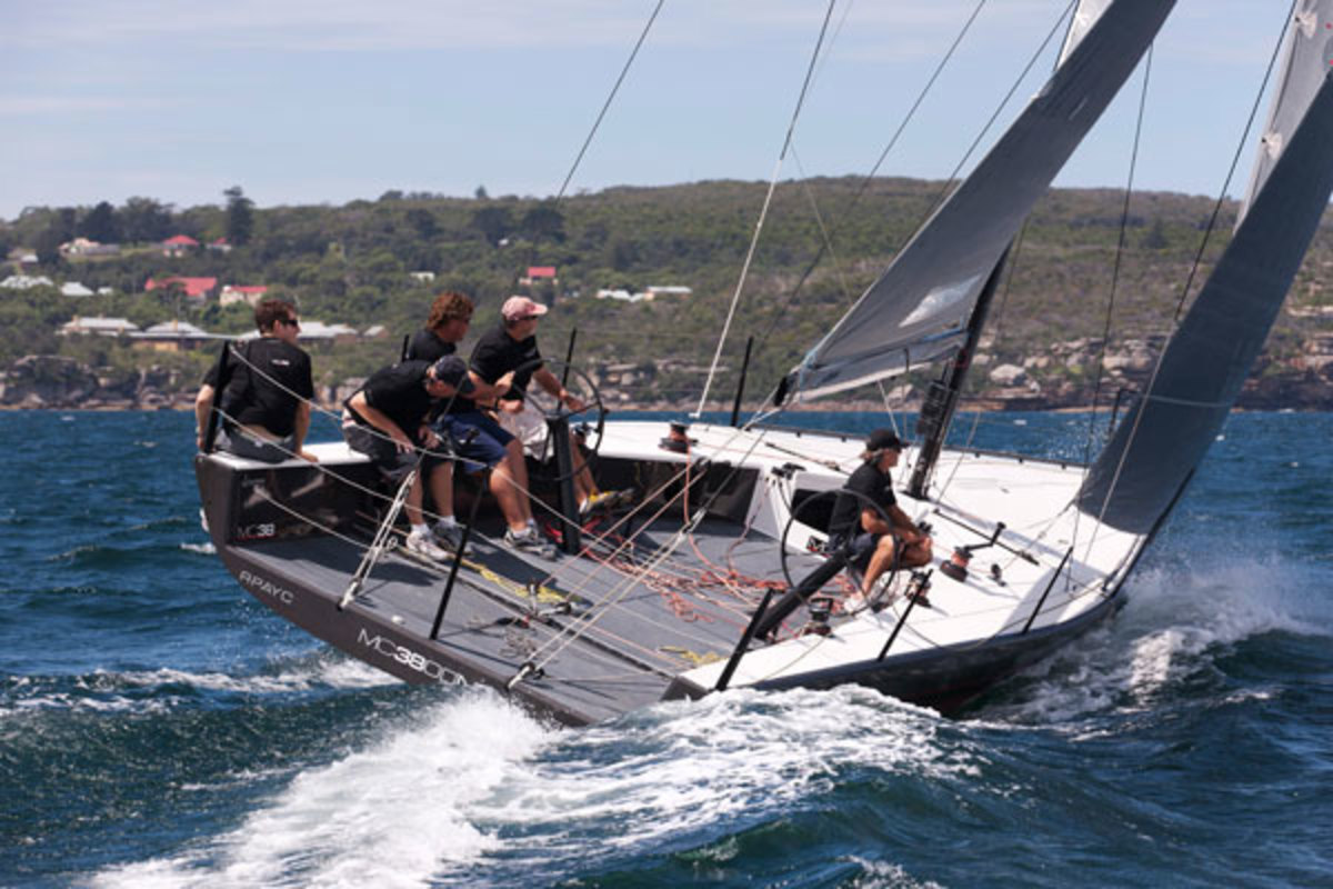 With a 50 percent ballast ratio, a D/L of 75 and an eye-popping SA/D of 47, the McConaghy 38 is a racer in the truest sense of the word. Note that with a light-ship displacement of just 7,055 pounds, crew weight is also a factor in terms of the actual performance of this boat.