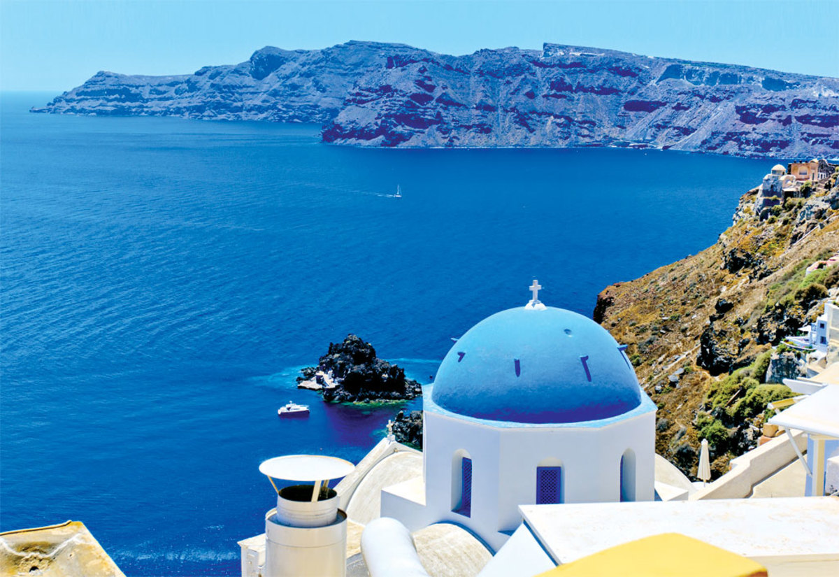 Greece: the land of scintillating blue water and rocky shores