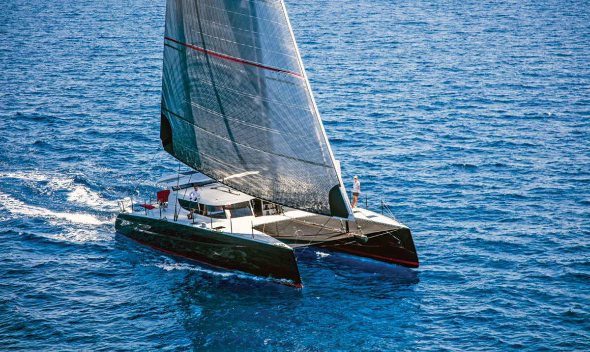 A fast, luxurious carbon fiber catamaran