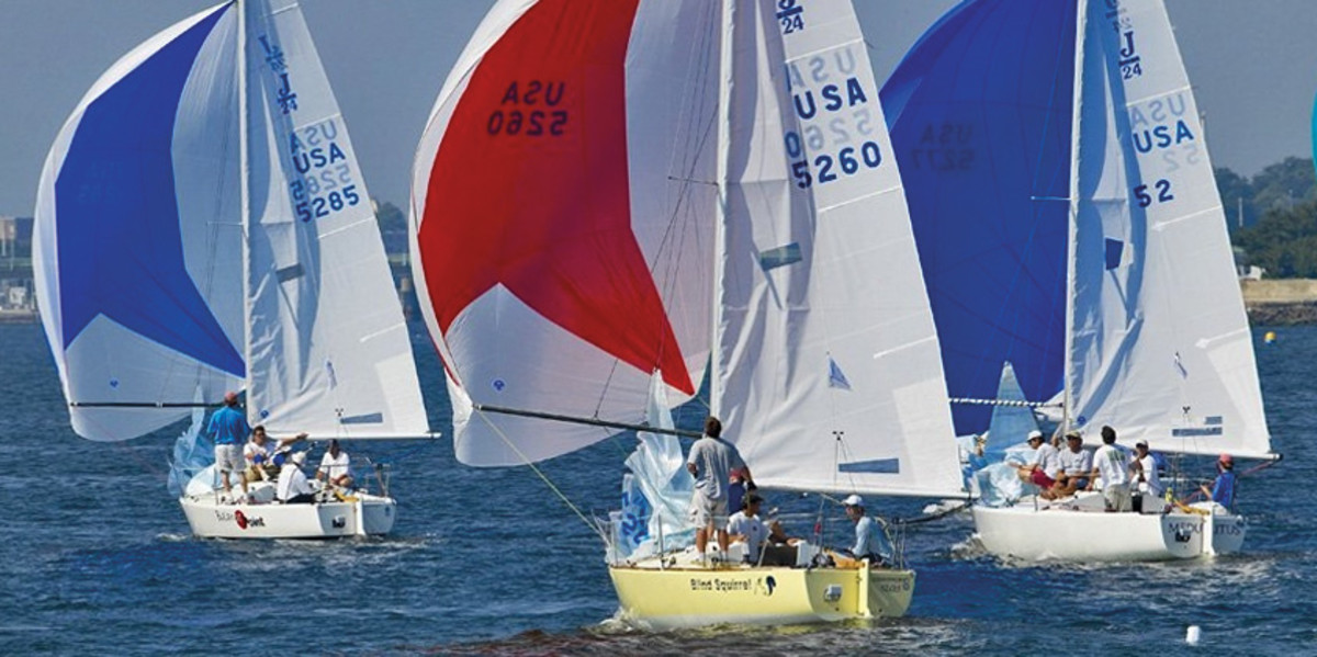 Three J/24s battle downwind