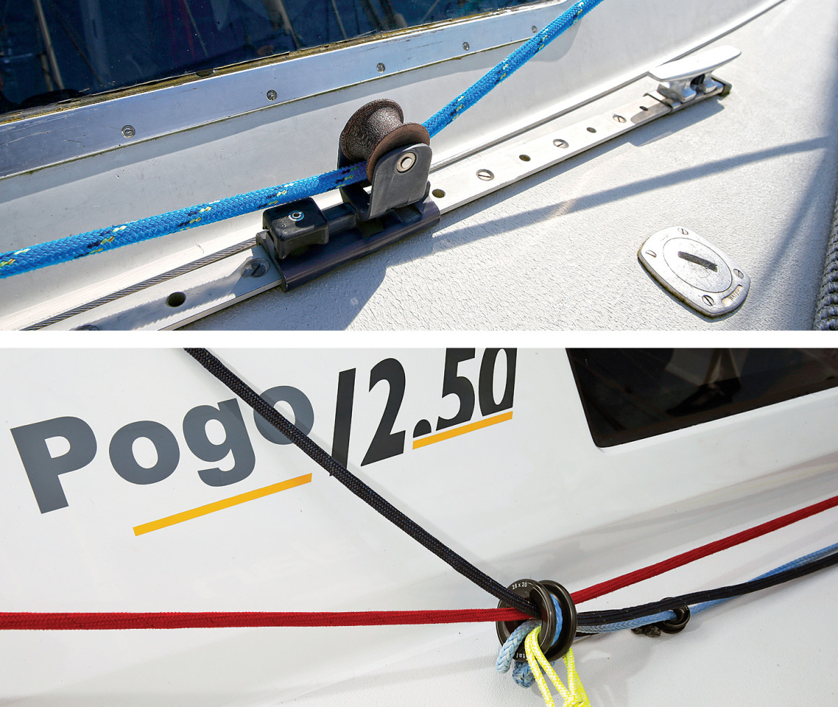 The original setup (top);  How the Pogo 12.50 is set up (bottom)