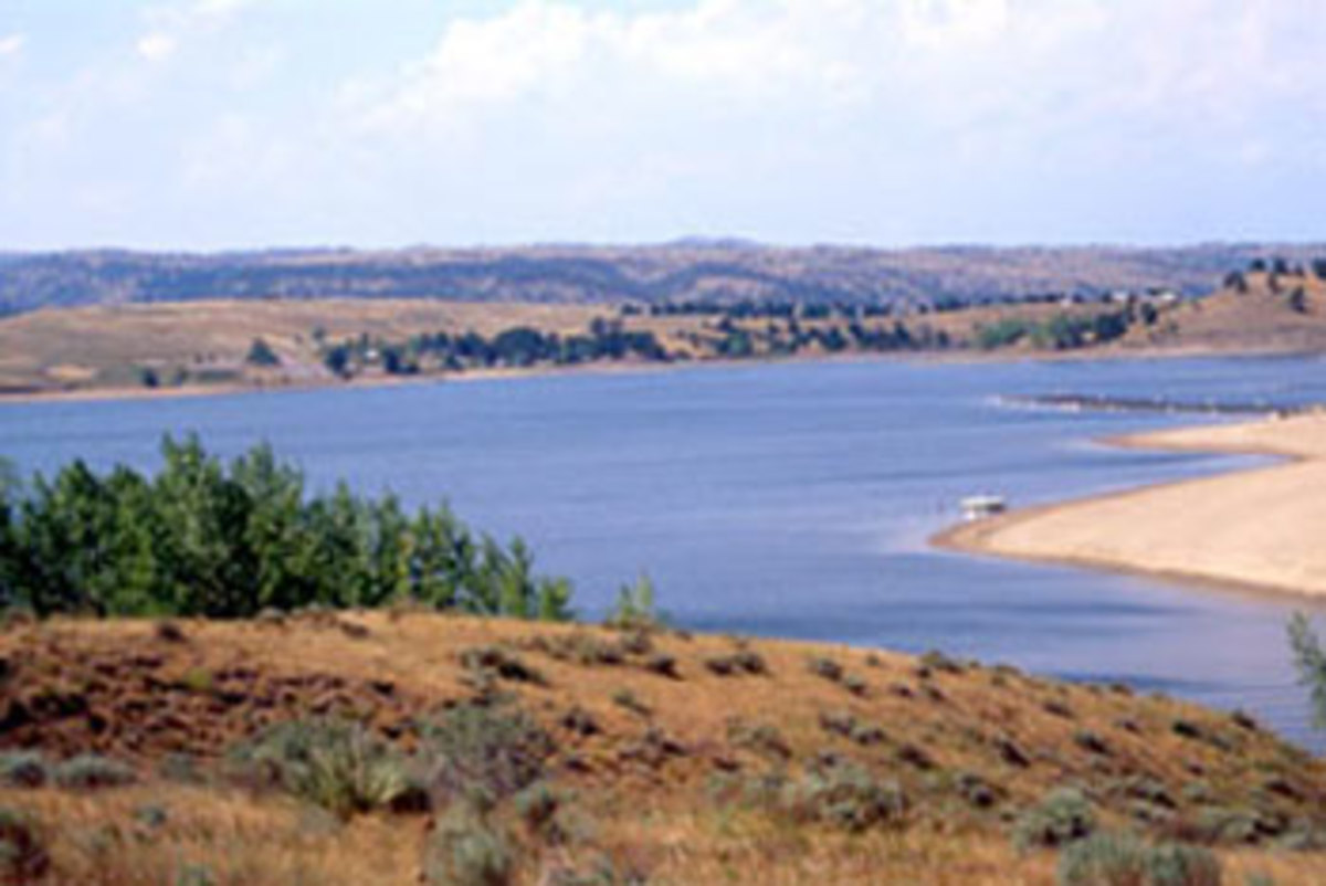 Angostura reservoir. Photo courtesy of sd.gov