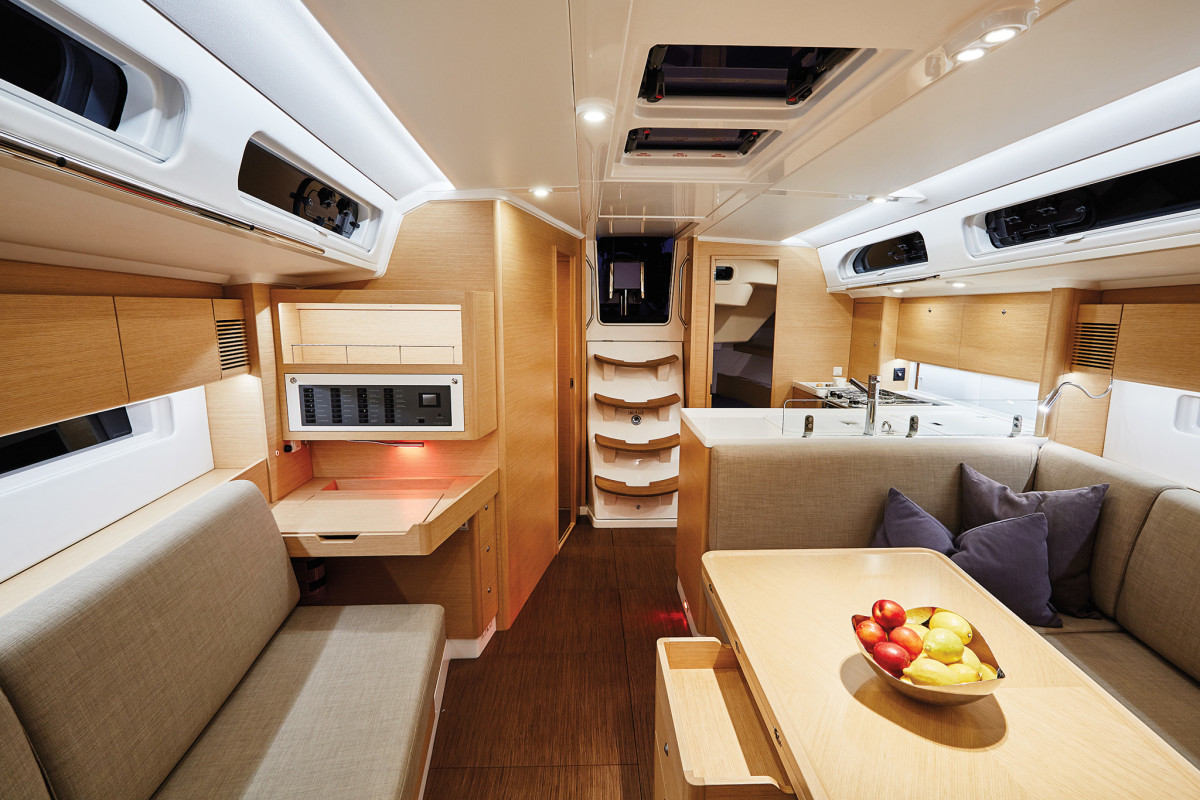 The accommodations are a cut above the typical performance-cruiser