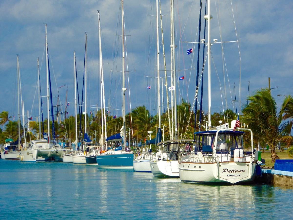 American-flagged boats are a common sight at Havana's Marina Hemingway