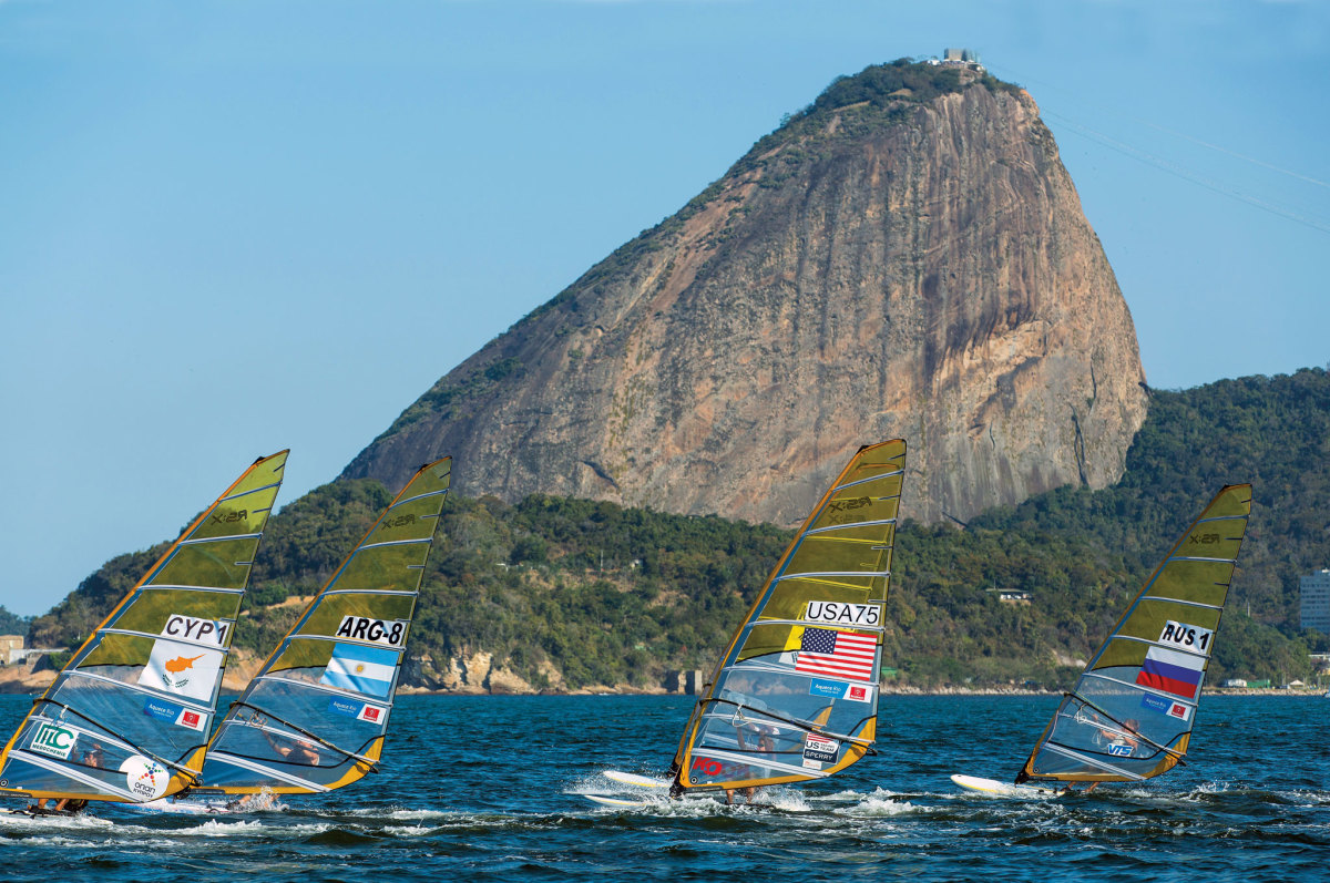 The mother of wind shadows: Sugarloaf Mountain is one of a number of features that make Guanabar Bay a tricky place to sail
