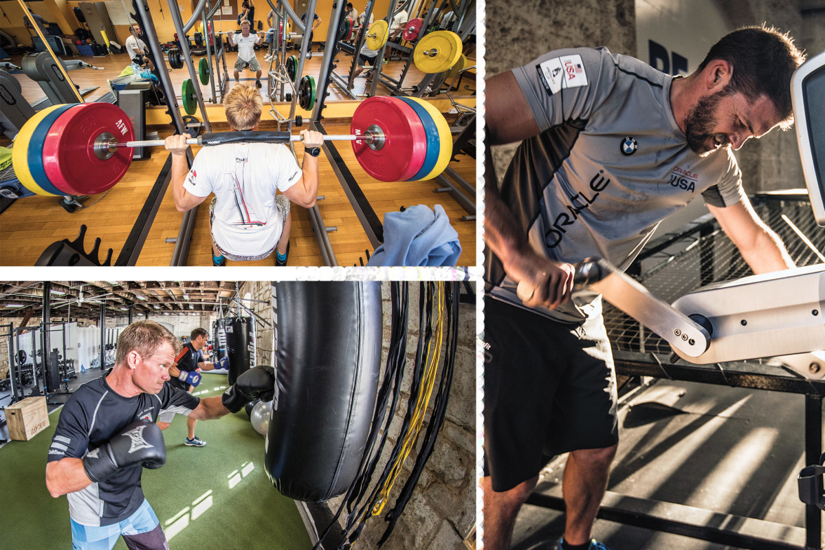 The life of a Cup sailor now includes endless hours in the gym