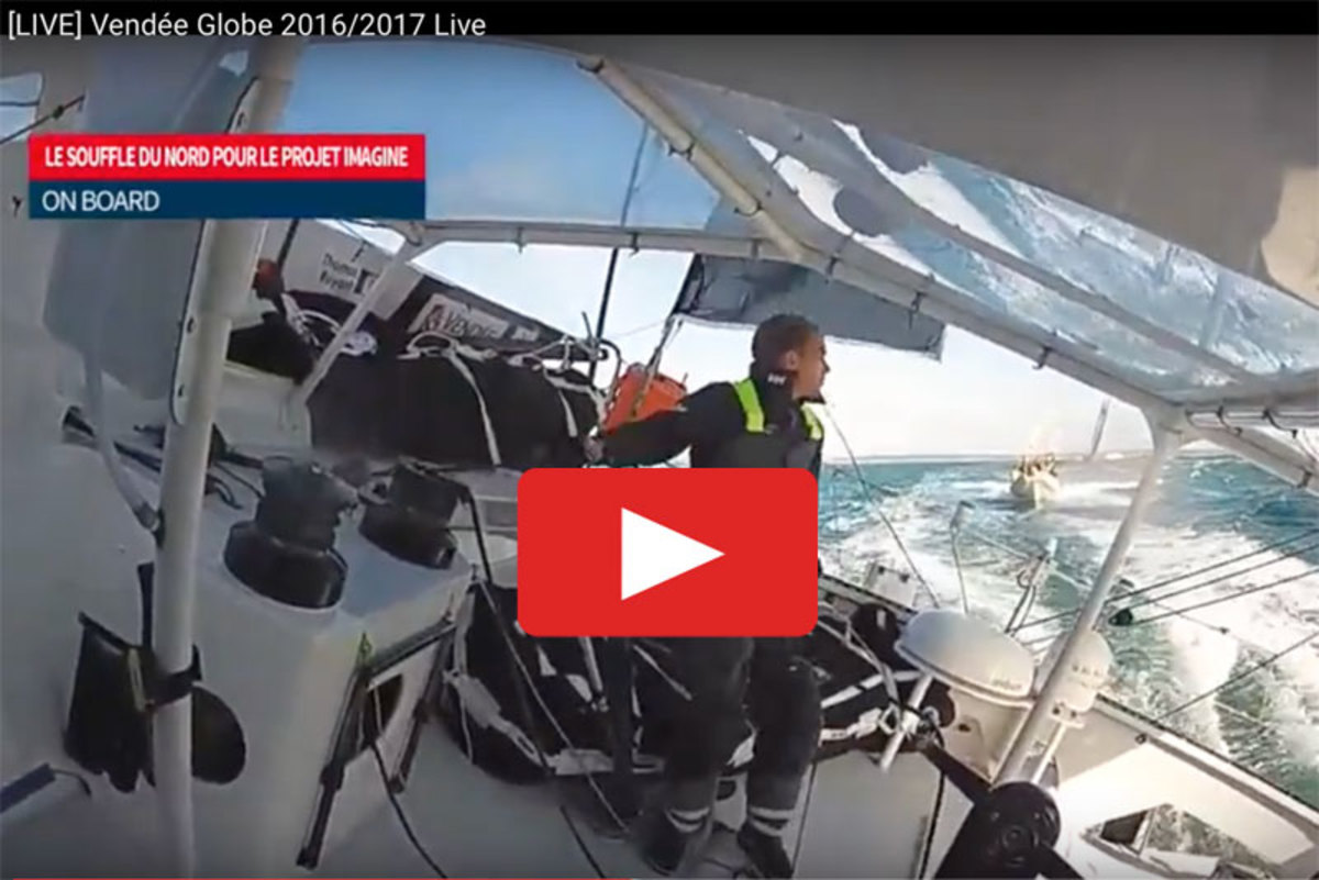 Video from the start of the 2016-17 Vendee Globe Race