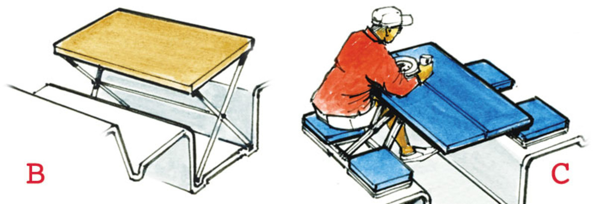 Sketch Book: Creating Cockpit Tables - Sail Magazine