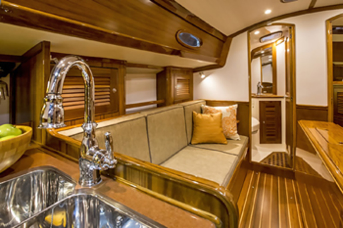 The saloon is well executed and replete with clever features